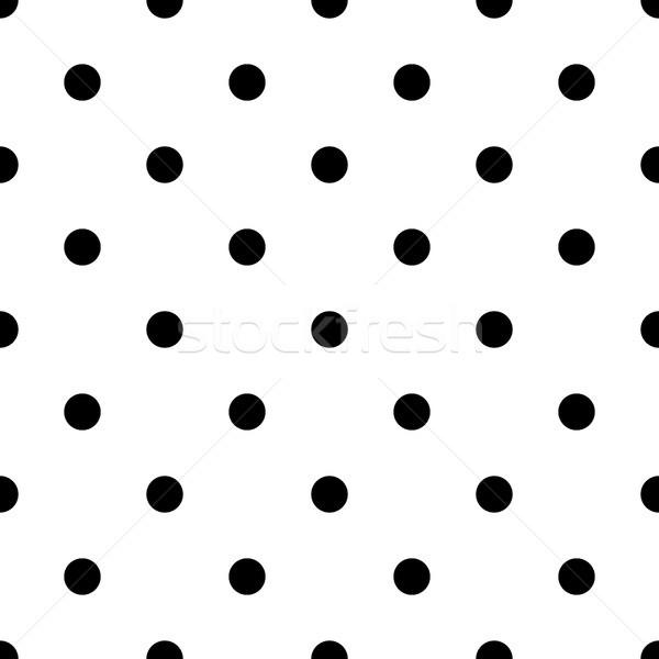 Polka dot bold vector seamless pattern. Stock photo © yopixart