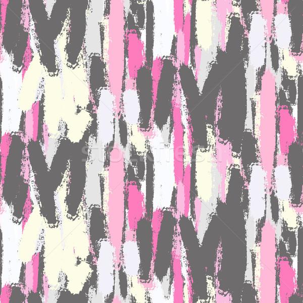 Absztrakt pasztell szín ecsetvonások végtelen minta puha Stock fotó © yopixart