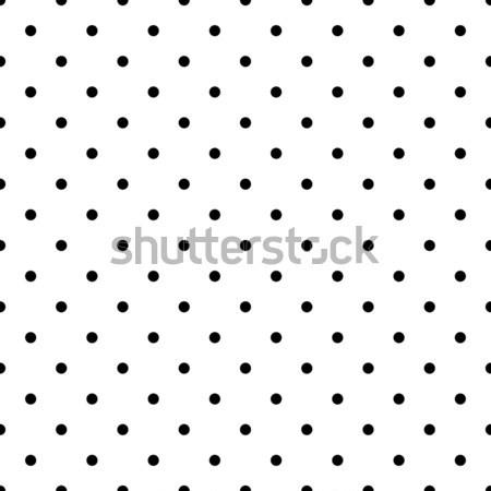 Punteggiata in bianco e nero vettore polka piastrelle Foto d'archivio © yopixart