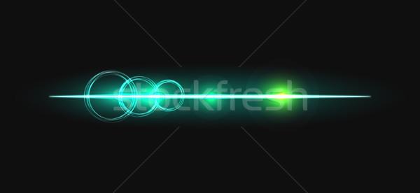 Gloed stick lijn cirkels vector effect Stockfoto © yopixart