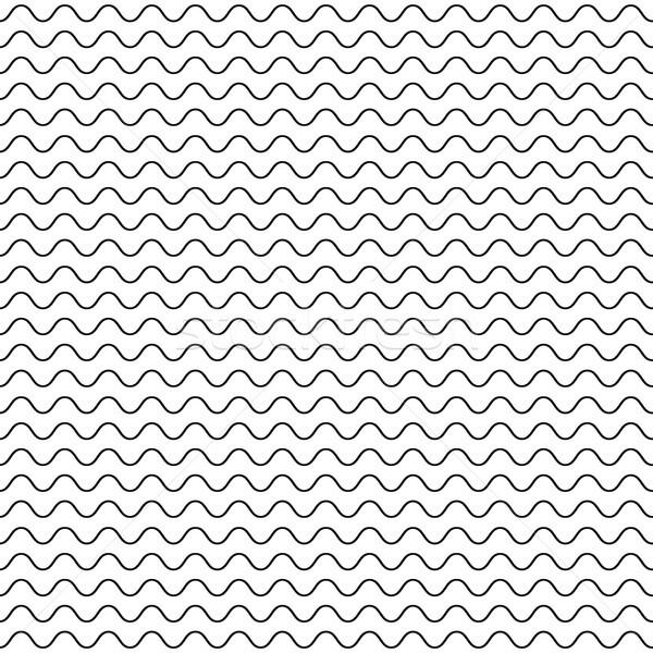 Vékony hullámos vonalak végtelenített vektor minta Stock fotó © yopixart