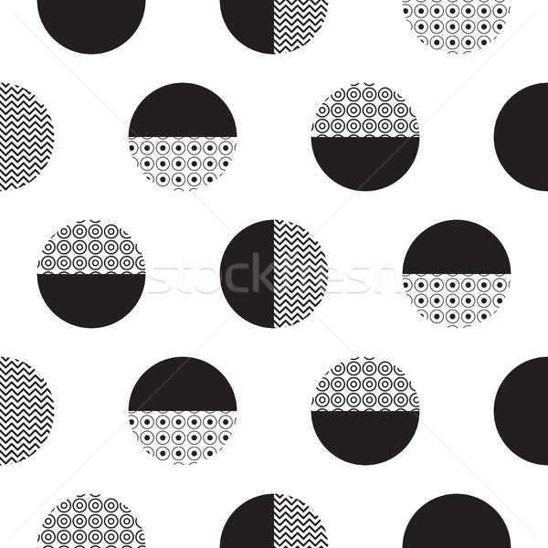 Geometric black and white dotted circles minimalistic pattern. Stock photo © yopixart