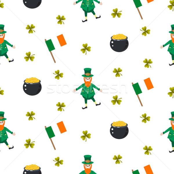 Ирландия святой вектора зеленый Сток-фото © yopixart