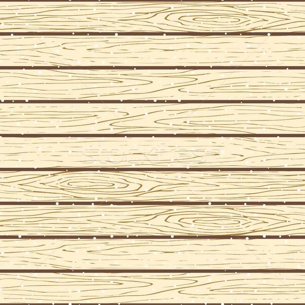 Seamless wood planks pattern. Tree bark texture vector snowy background. Stock photo © yopixart