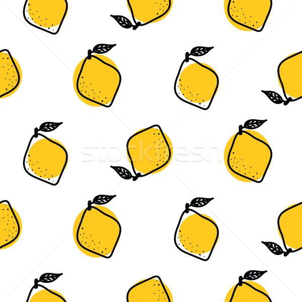 黄色 レモン 葉 ベクトル 柑橘類 ストックフォト © yopixart