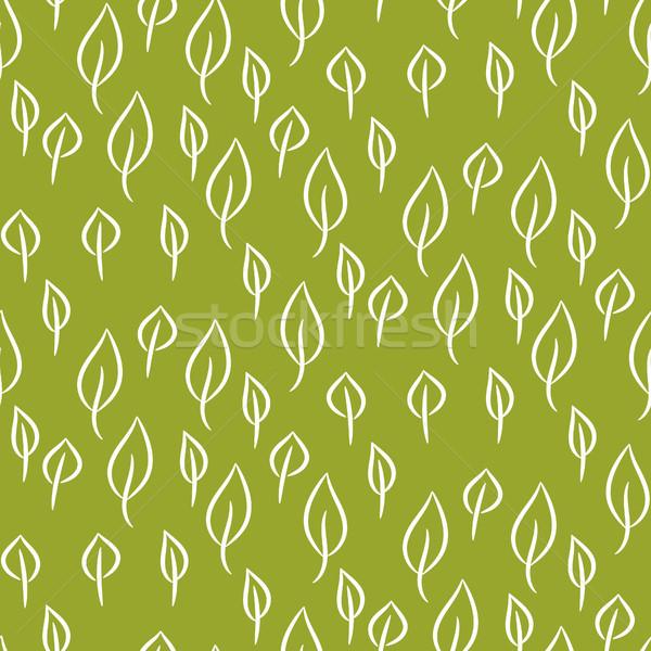 Loof lijn naadloos vector patroon groene Stockfoto © yopixart
