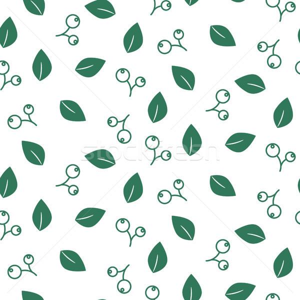 Fogliame senza soluzione di continuità vettore pattern bianco natura Foto d'archivio © yopixart