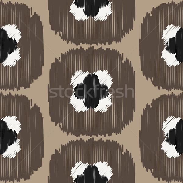 Vektor végtelen minta négyzetek absztrakt mértani szövet Stock fotó © yopixart