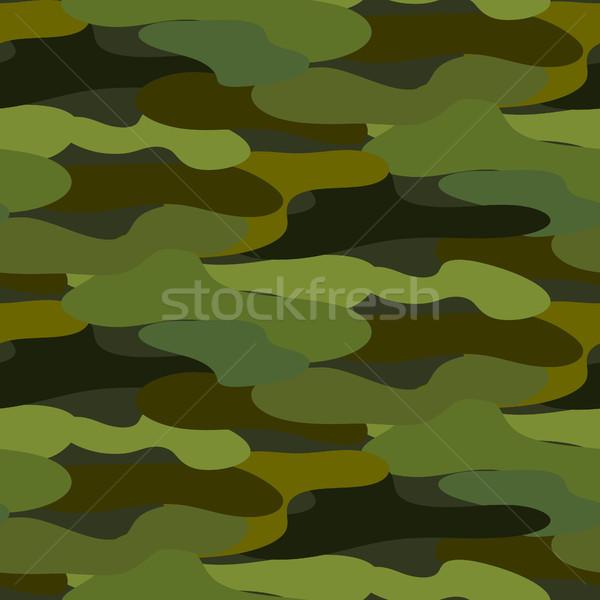 Khaki camouflage seamless vector pattern. Stock photo © yopixart