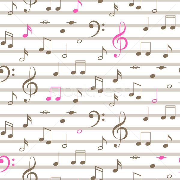 Zdjęcia stock: Muzyki · zauważa · bezszwowy · wektora · naszywka · wzór · muzyki · zauważa