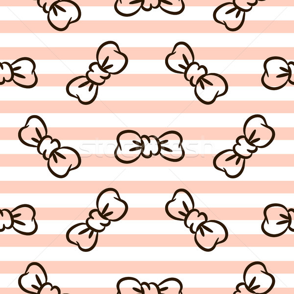 Listrado rosa branco sem costura vetor padrão Foto stock © yopixart
