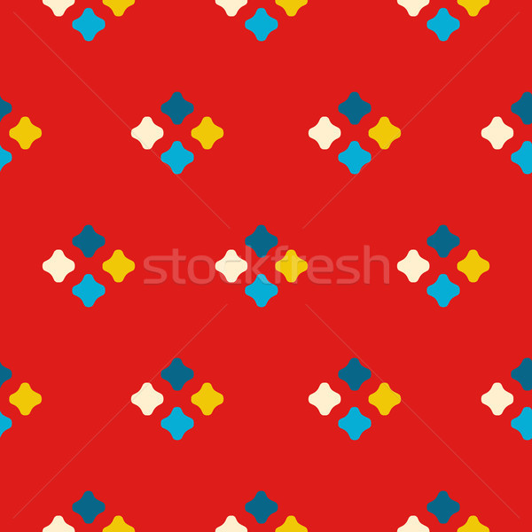 Textile print bright rhombuses repeat vector pattern. Stock photo © yopixart