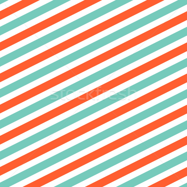 Diagonal red and mint line pattern. Stock photo © yopixart