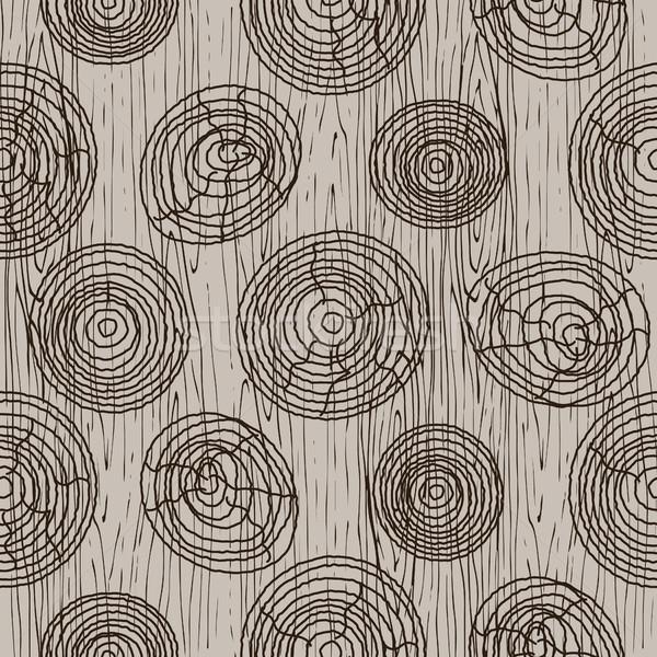 Foto stock: Casca · círculos · bege · sem · costura · vetor