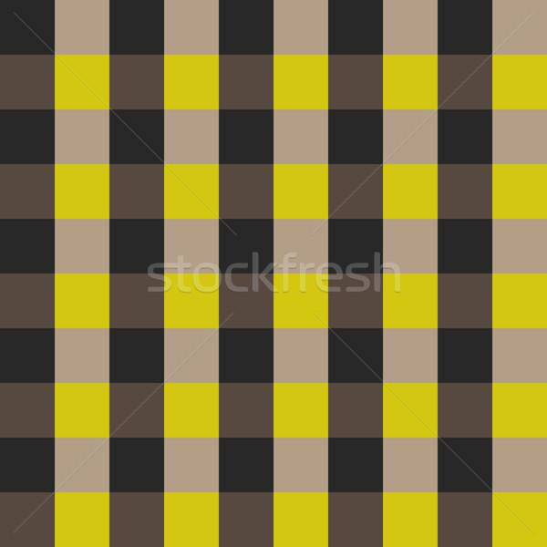 Kockás póló végtelenített vektor minta kockás Stock fotó © yopixart