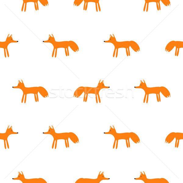 Cute vos dier naadloos vector patroon Stockfoto © yopixart