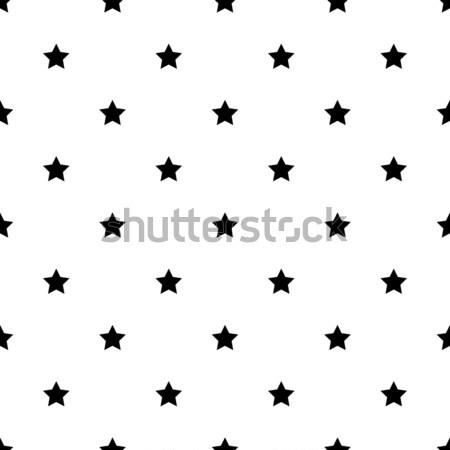 Csillag forma feketefehér végtelen minta végtelenített vektor Stock fotó © yopixart