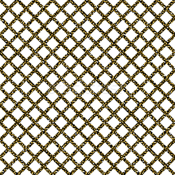 Chain-link fencing gold glitter seamless pattern. Stock photo © yopixart