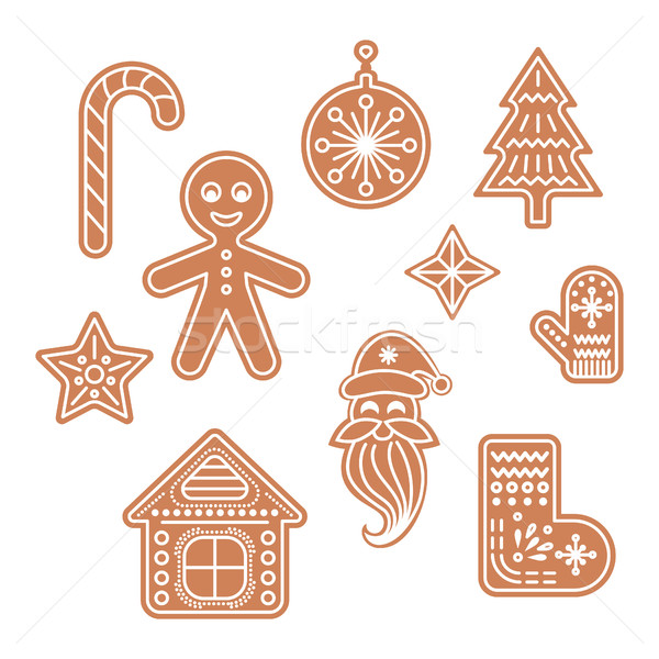 Gingerbread cookies vector illustration. Stock photo © yopixart