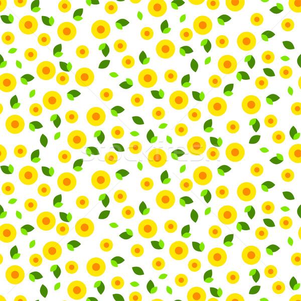 небольшой плотный цветочный стилизованный Сток-фото © yopixart