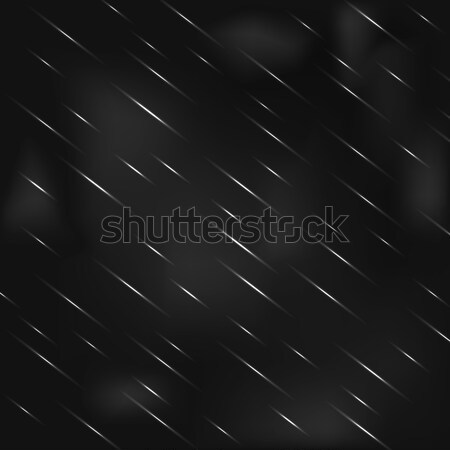 Drizzling rain at night with hazy gray sky. Stock photo © yopixart