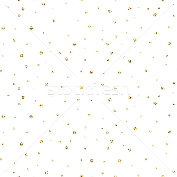Abstract dotted glitter gold snow seamless pattern. Stock photo © yopixart