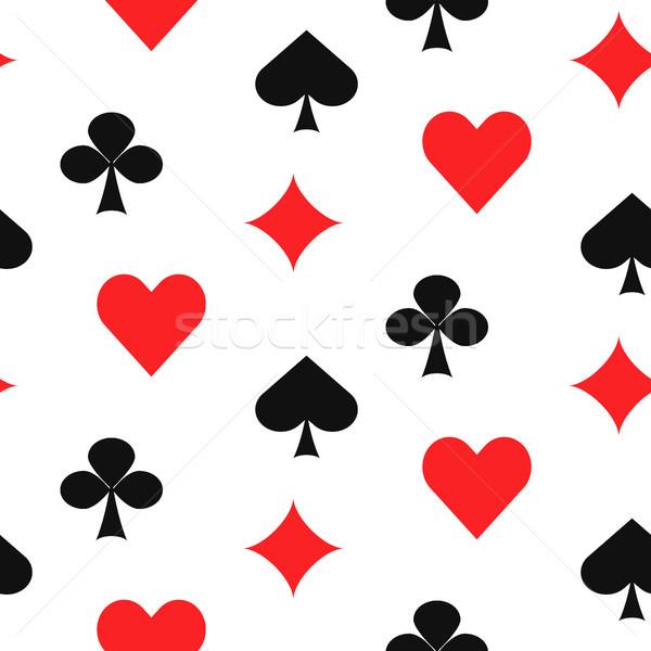 Playing card suits seamless pattern. Stock photo © yopixart