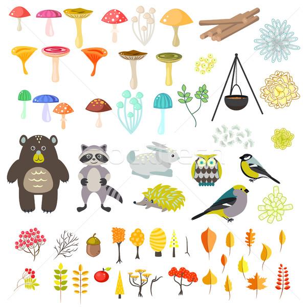 állatok természet vektor clipart tárgyak rajz Stock fotó © yopixart