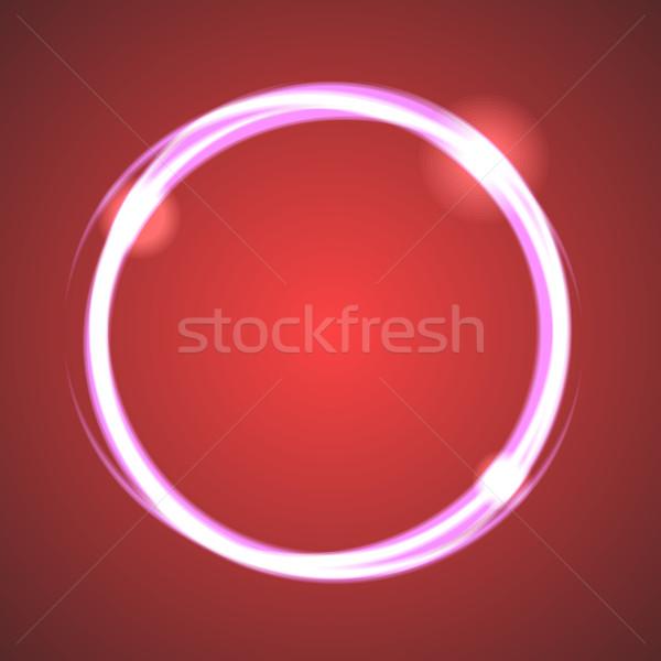 Gloed effect eclips cirkel vector neon Stockfoto © yopixart