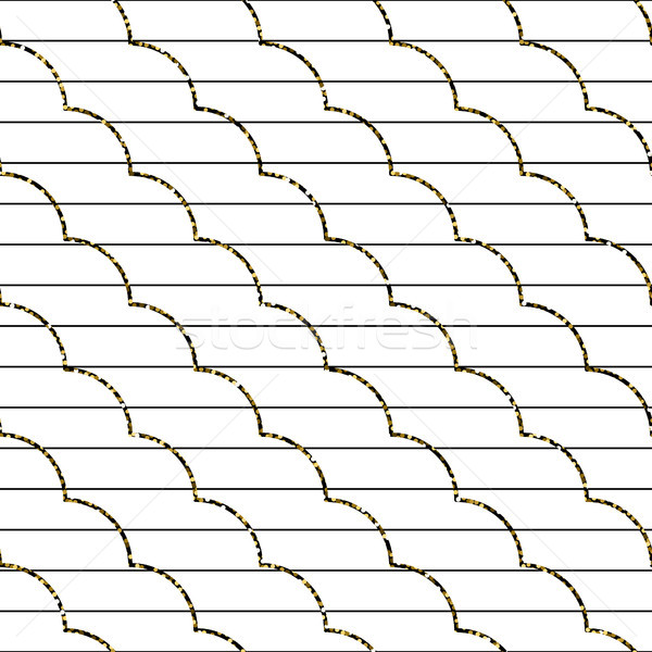 Abstract frill line diagonal vector pattern. Stock photo © yopixart