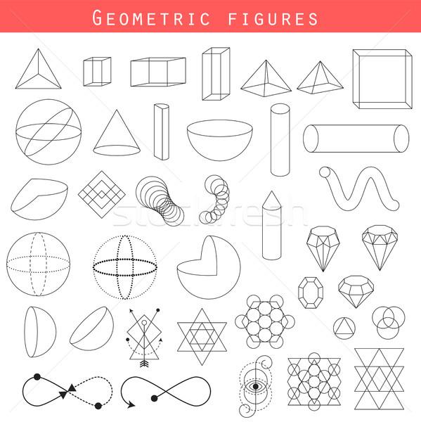Geometrie schets vector wiskundig heilig Stockfoto © yopixart