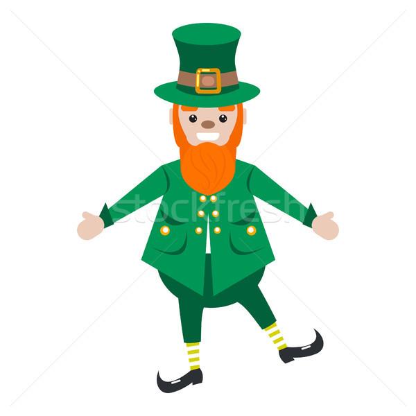 Irlandês barbudo vetor desenho animado Foto stock © yopixart