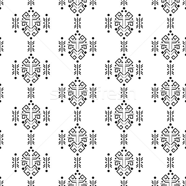 Stock photo: Mayan style ornament seamless vector pattern.