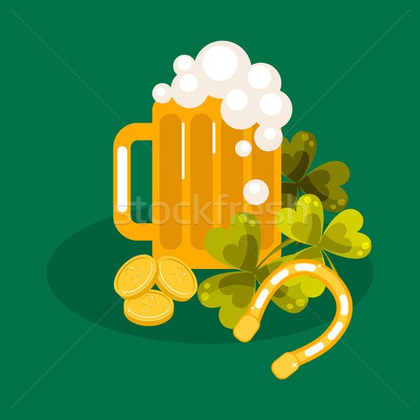 Irish St. Patrick festival vector illustration. Stock photo © yopixart