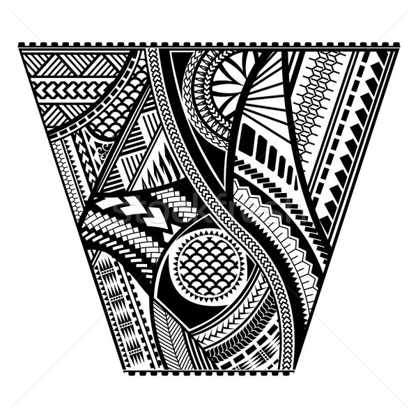 Polynesian tattoo style sleeve vector design. Stock photo © yopixart