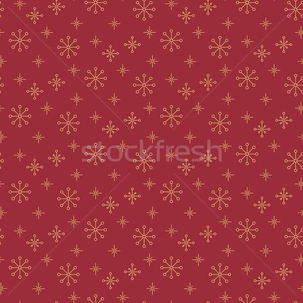 Stockfoto: Vintage · sneeuwvlok · eenvoudige · dun · lijn