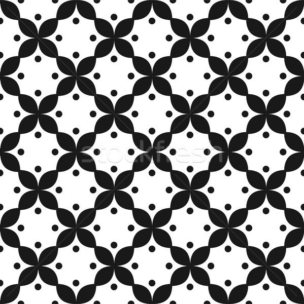 Blanc noir modèle vectoriel ornement monochrome géométrique Photo stock © yopixart