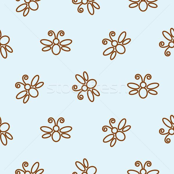 Papillon bleu simple ligne Photo stock © yopixart
