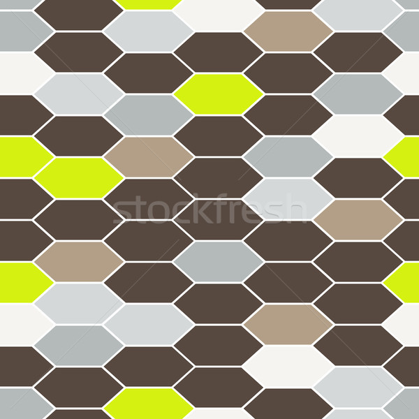 Mosaic tiles seamless vector pattern. Stock photo © yopixart