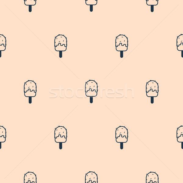 свет розовый простой икона мороженым Сток-фото © yopixart