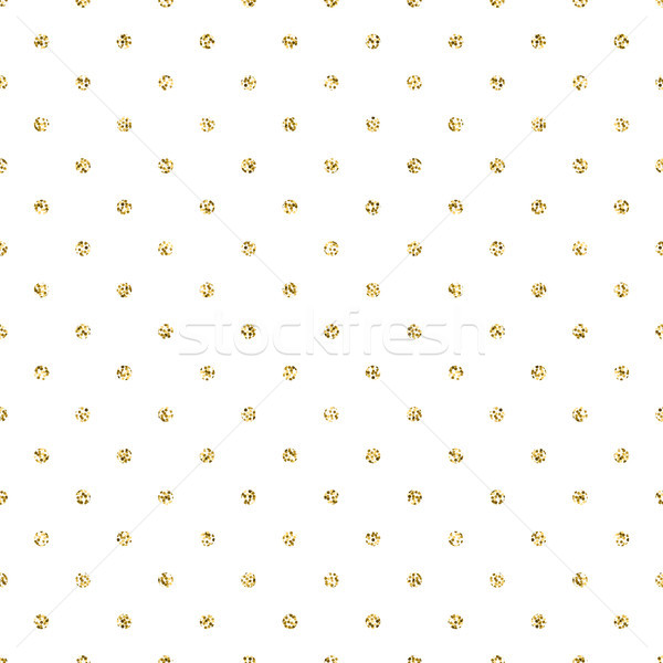 Gold foil shimmer glitter polkadot seamless pattern. Stock photo © yopixart