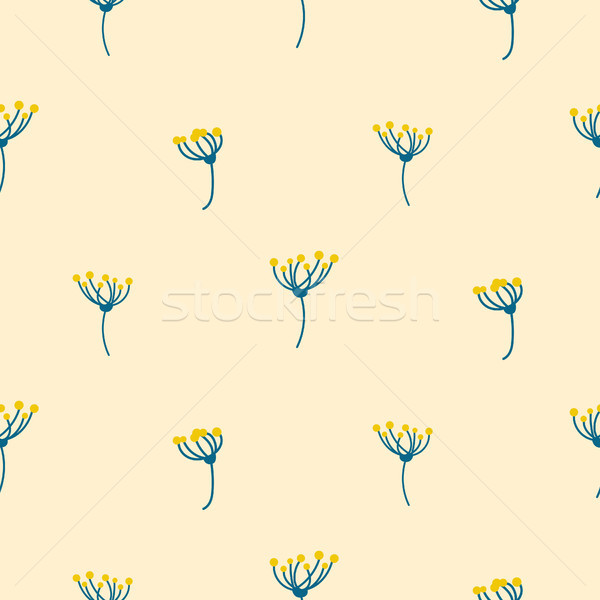 Dill crown flower abstract simple seamless pattern. Stock photo © yopixart