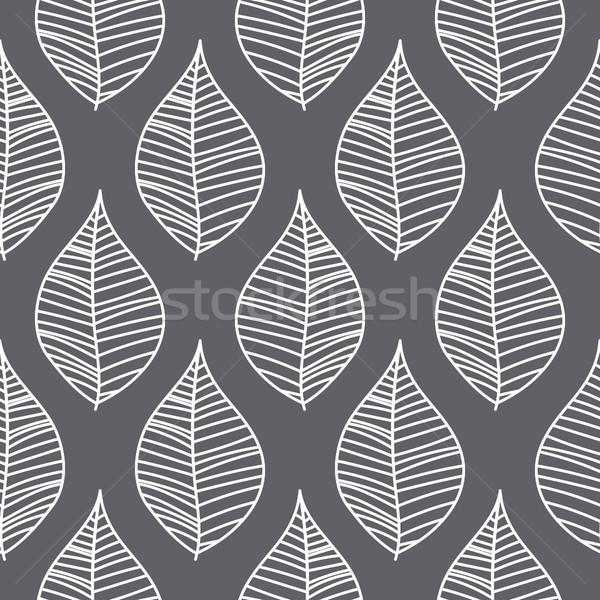 Abstrato folhas sem costura vetor padrão roxo Foto stock © yopixart