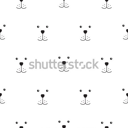 Psa kaganiec bezszwowy wektora proste wzór Zdjęcia stock © yopixart