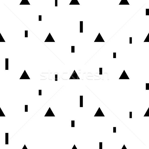 Vector meetkundig eenvoudige zwart wit Stockfoto © yopixart