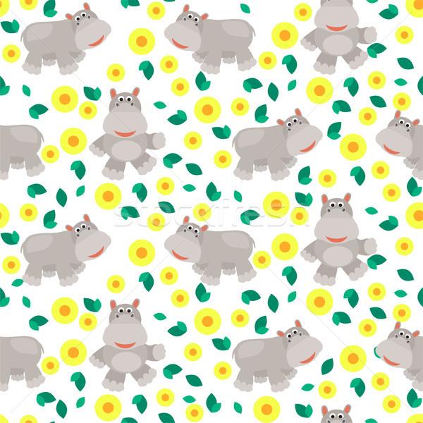 Cartoon vector savanne wild dierentuin Stockfoto © yopixart