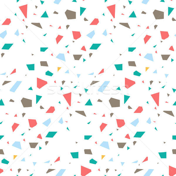 Terrazzo flooring seamless vector pattern. Stock photo © yopixart