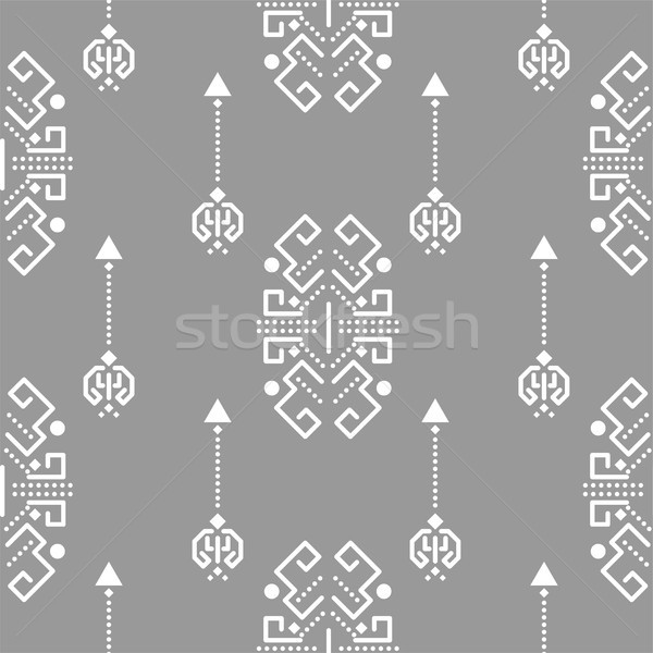 Ethnic tribal ornament seamless vector pattern. Stock photo © yopixart
