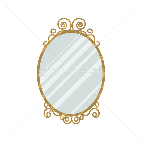 Vintage style mirror vector illustration vector for Old style mirror