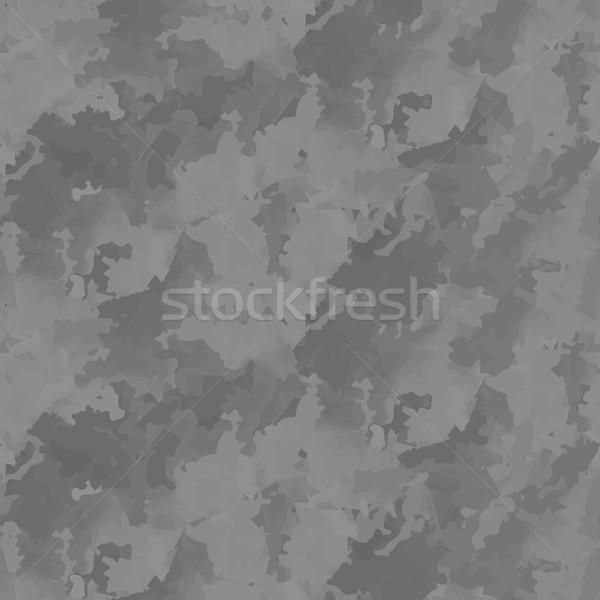 Cement gray seamless pattern vector texture. Stock photo © yopixart